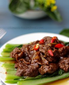 stir fried beef with sha cha sauce #beef recipe