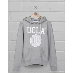UCLA Clothing | UCLA hoodie Colin in grey with crest logo