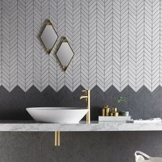 Petite Chevrons Dark | Chevron Tiles | Porcelain Superstore