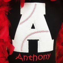 Baseball Alphabet letter Iron on patch Pick your by SewWhatAshley, $7.50