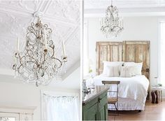 love the chandelier look