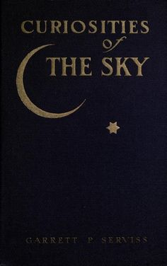 Book cover. Curiosities of the sky. 1909.