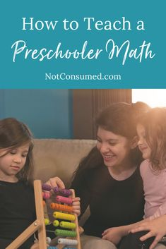 The best way to teach a preschooler math is to focus on counting, subtracting, adding, and multiplying real things in your house. This happens naturally if you are engaged with your kids. Have them count out the forks for dinner, divide the cookies evenly to each family member. #preschool #teachingmath #preschoolmath #totschool #preschoolcurriculum Morning Checklist, Rod And Staff, Homeschool Preschool Curriculum, How To Start Homeschooling, A 17, Learn To Read, Read Aloud, Fun To Be One, Life Skills