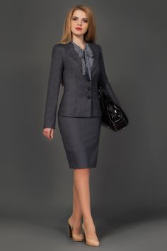 Lower heels and you are all set for even the most conservative office. Lower heels and you are all s Office Attire Women, Office Dresses For Women, Office Fashion Women, Office Outfits, Work Fashion, Suits For Women, Fashion Outfits, Clothes For Women, Womens Fashion