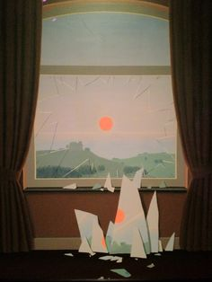 Evening Falls by Rene Magritte