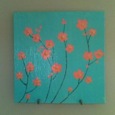 Canvas flower painting  @kaitielee this would match your room!