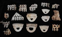 Seventeen Pieces of Ornaments Western Solomons, 19th Century or Earlier, Ex Tebbenham Collection, from HSM Mohawk 1898. Punitive expedition to the Western Solomon's due to the headhunting raids on the neighboring Islands