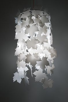 laser Homemade Lamp Shades, Homemade Lamps, Laser Cut Lamps, Recycled Art Projects, Creative Lamps, Light Project, Kirigami, Paper Lanterns, Lamp Design