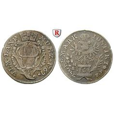 Ulm, Reichsstadt, 5 Kreuzer 1767, ss: 5 Kreuzer 1767 Augsburg. Mit Mauerkrone verzierter Stadtschild / Doppeladler auf Postament.… #coins