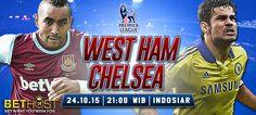 Prediksi West Ham United Vs Chelsea 24 Oktober 2015 West Ham, Antara, Premier League, Chelsea, The Unit, London, Baseball Cards, London England, Chelsea Fc