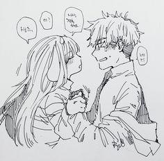 1. Adult!/Monster! Frisk and Human! Sans   Artist RyuO