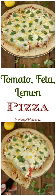 This Tomato Feta Lemon Pizza is fresh, flavorful and easy to put ...