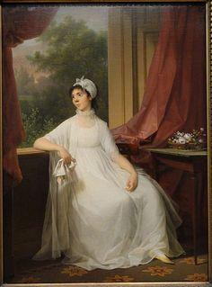 Gertrud (Heitmann) Hage, Jens Juel, ca. 1800; Statens Museum for Kunst