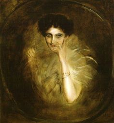 Lady Mary Leiter Curzon by Franz Von Lenbach, 1901. Photo courtesy of the National Portrait Gallery (NPG), bequest of Lady Alexandra Metcalfe.