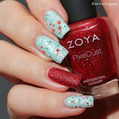 Lynnderella Sugar and Ice over Essie Fashion Playground, Zoya Chyna as accent