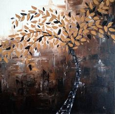 Palette Knife Painting  Brown Tree by PattyTurnquistArt on Etsy  $150 Knife Art, Palette Knife Painting, Paintings, Brown, Etsy, Paint, Painting Art, Draw, Painting