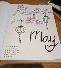 Facebook@BulletJournal-Nederland May mei cover pagina Maand cover