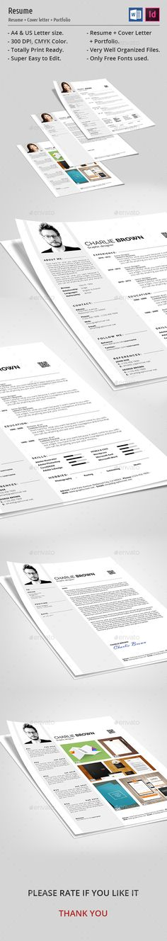 Creative Resume Simple resume template, Simple resume and Creative - font for a resume