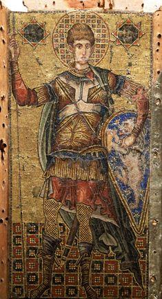 Άγιος Δημήτριος / Saint Demetrius Medieval Manuscript, Sacred Art, Religious Art, Fabric Art, Saints, Christian, Illustration, Painting, Album