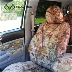 Camo Lasts Forever - Realtree Ap Camo Seat Cover and Interior.  #Realtreecamo #camotruck