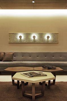 Prakruti Residence – a+t associates Bed Design, Wall Design, House Design, Living Room Designs, Living Room Decor, Center Table, Retail Space, Create Space, Apartment Design