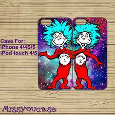 iphone 5 case,cute iphone 5 case,iphone 5 cases,iphone 4 case,iphone 4s case,cute iphone 4 case--Thing 1 and Thing 2,in plasitc,silicone. by Missyoucase, $25.99 || this is so cute ! thing one and two (: 1 & 2 ||