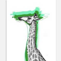 Cool Giraffe Print, 26€, now featured on Fab.