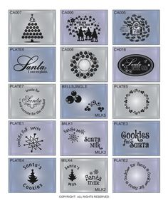 DIGITAL DOWNLOAD ... 18 vinyl letting vector designs for the home, primarily for holiday advent calendars, Santa plates, and Santa mugs ... available as single designs and in the ChristmasTwo Collection @ My Vinyl Designer (http://www.myvinyldesigner.com/Products/christmas-two-collection-addon-p3.aspx)