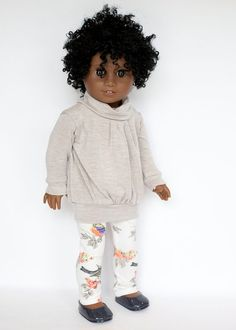 American Girl Doll sized pullover tunic by EverydayDollwear
