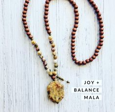 Kicking off the week, set your intention I am JOY. Gemstone Necklace, Tassel Necklace, Necklaces, Clear Quartz, Rose Quartz, Emotional Pain, Protection Stones, Crazy Lace Agate, Laughter