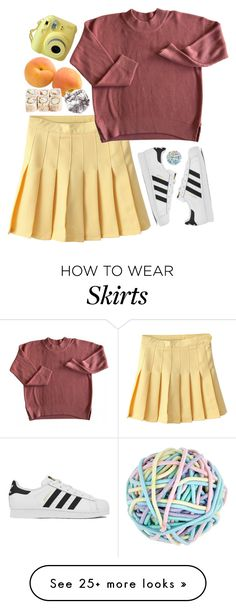 """i own this skirt"" by clairepiper on Polyvore featuring adidas, Accessorize, women's clothing, women's fashion, women, female, woman, misses and juniors"