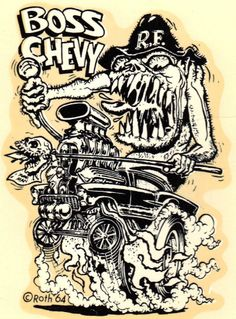 Boss Chevy Decal. > Ed Roth.