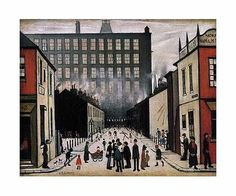 size: Giclee Print: Street Scene (Pendlebury) by Laurence Stephen Lowry : This exceptional art print was made using a sophisticated giclée printing process, which deliver pure, rich color and remarkable detail. Banksy, Grime Artists, Tate Britain, English Artists, Popular Art, Art Uk, Naive Art, Famous Artists, British Artists