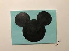 Hey, I found this really awesome Etsy listing at https://www.etsy.com/listing/528377800/9x12-hand-painted-large-mickey-head