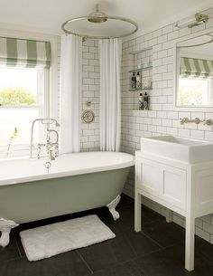 siglo best shower curtain for clawfoot tub. design indulgence High gloss subway tile next to textured  soaker tub mantle over Beautiful Bathrooms Pinterest Subway tiles and