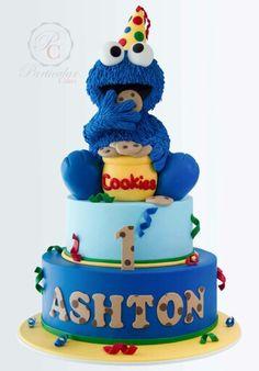 Cookies monster cake
