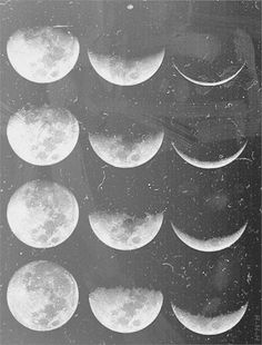 I like the contrast of how the moons are once full and then slowly decrease in size.