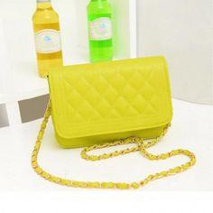 Women's Candy Color Handbag Shoulder Chain Bag Cross