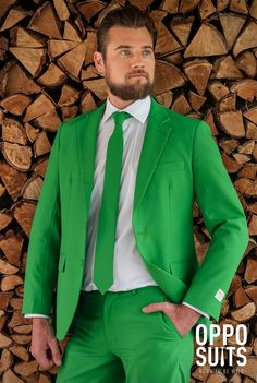 Well-fitted green suit / costume. $99.95. Fast delivery. High Quality - OppoSuits