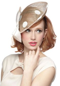 Keep wind at bay & hold your hair stay in place with cute & unique hats & hair accessories from ModCloth. From barrettes to bucket hats, we have it all. Millinery Hats, Fascinator Hats, Fascinators, Headpieces, Sinamay Hats, Hats For Women, Clothes For Women, Cocktail Hat, Fancy Hats