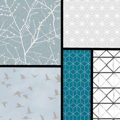 tendance papier peint quoi de neuf pour 2018 2019 chambres pinterest wallpaper wall. Black Bedroom Furniture Sets. Home Design Ideas