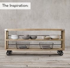 Make this Restoration Hardware inspired storage cart for a fraction of the cost.