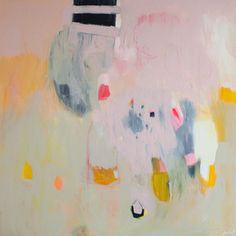 """Large beige, pink and yellow abstract Print of modern painting, expressionist print """"Out of Her Loop Illustrations, Illustration Art, Abstract Print, Artist Art, Fine Art Paper, Pastel, Les Oeuvres, Architectural Digest, Original Paintings"""