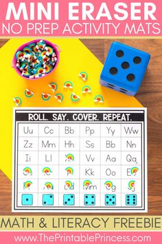 Mini Erasers can be used for alphabet activities, beginning sounds activities, numbers and counting, fine motor skill development and more! Today I am sharing some of my favorite mini eraser freebies for kindergarten to show all the fun you can have with them!