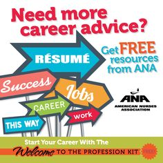 HERE'S YOUR CAREER GPS! ANA has a free gift for you ─ a Welcome to the Profession Kit available at http://bit.ly/1AUFaXx