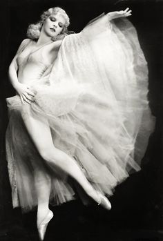 """Harriet Hoctor c. 1930's (1905-1977).  Ballerina, dancer, actress and Ziegfeld Girl. Composer George Gershwin composed a symphonic orchestral piece (Hoctor's Ballet) specifically for her in the film, """"Shall We Dance"""" (1937)."""