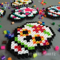 Day of the Dead Perler Bead Magnet  hama beads  by HarmonArt2, $4.00