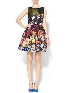RED Valentino Silk Faille Hazy Garden Dress   Piperlime