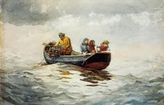 Winslow Homer - Crab Fishing, (American artist, 1836-1910)