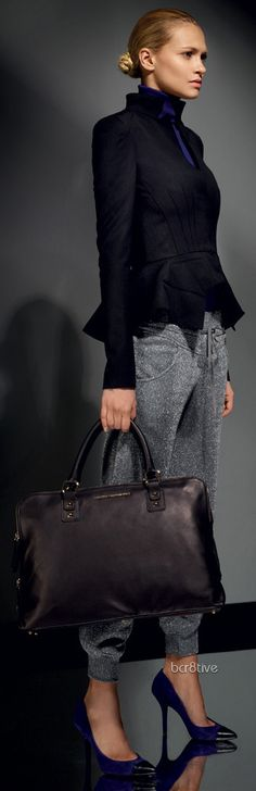 Would love this for an interview. The pants look sooo comfortable. Atos Lombardini Fall Winter 2012-2013